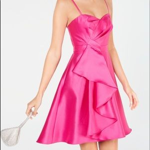 Adrianna Papell Bright Pink Cocktail Dress size 16